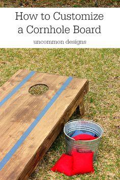 How to Customize a Cornhole Board www.uncommondesignsonline.com