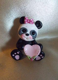 panda bear birthday cake topper Christmas ornament by clayqts, $18.75