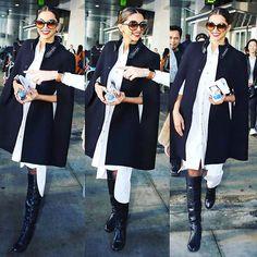 4e5b3ee58b Deepika Padukone at the Torronto airport wearing a Chola Dress by Sohaya  and YSL shirt.