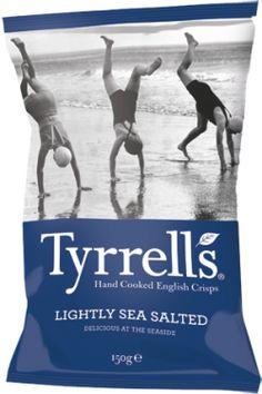 Tyrrells English Crisps — Lightly Sea Salted #packaging #snacks