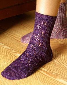 MFPP: Socks for Spies by Katherine Vaughan. malabrigo Sock in Violeta Africana colorway.