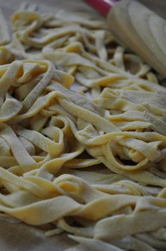 Homemade Noodles  (love homemade noodles!)