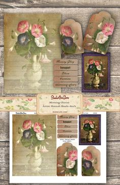 Collage Decoupage Paper Pack Scraps Mixed Media Journal Recycled Paper 12 Garden Theme Wallpaper Pieces Card Making Wallpaper Pack