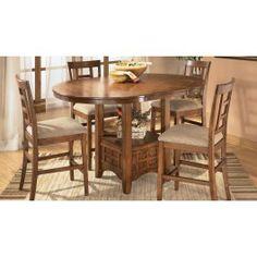 Cross Island Dining Set $599 d319 by Ashley furniture http://www.dfwfurniture.com/dining-room-furniture/casual-tables/cross-island-dining-set.html