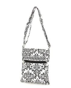 6edb4c9574 Belvah Quilted New Damask Hipster Crossbody Bag - Coice of Colors (Black)   Handbags  Amazon.com