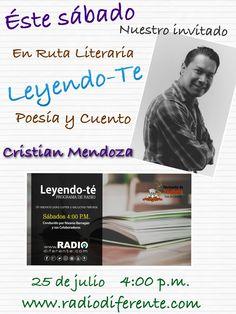 Sábado de poesía en Leyendo-Te, 25 de julio 2015