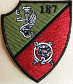 Patch 6° Trento Alpini Esercito Italiano Toppa Stemma Verde Militare con Velcro