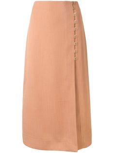 Shop Dion Lee Draped E In 粉色 from stores. Clay brown polyester Draped E-Hook midi skirt from Dion Lee featuring a high waist, a front hook and eye fastening, darts at the waist and a concealed rear zip fastening. Dion Lee, Elegant Outfit, Darts, Spring Fashion, High Waist, Midi Skirt, Women Wear, Clay, Fashion Outfits