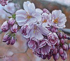 Натюрморт ручной работы. Ярмарка Мастеров - ручная работа. Купить Цветение.. Handmade. Живопись, реализм, розовые
