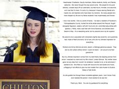 Rory's Chilton Graduation Speech. Honestly it makes me cry every time I read it.