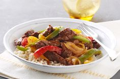 Saucy Pepper Steak. Another family favorite.