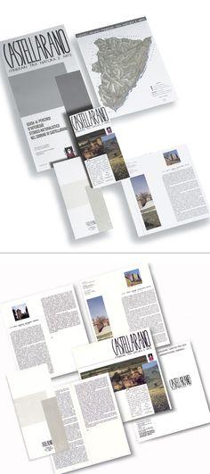CASTELLARANO ITINERARI: un opuscolo con custodia, pieghevole e locandina pubblicitaria per la valorizzazione dei percorsi storici del territorio. Progetto www.gariselliassociati.it