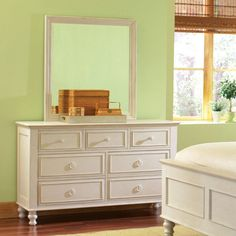Have to have it. Placid Cove 7 Drawer Dresser - Honeysuckle White - $915.75 @hayneedle