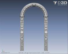 Arco de hornacina con motivos florales - Frente