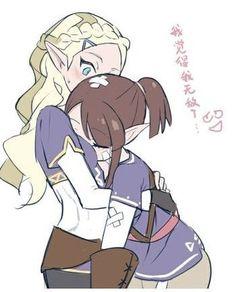 :: Diana and Akko as Elvish maidens : LWA Little Witch Academia :: Anime Girlxgirl, Lwa Anime, Yuri Anime, Kawaii Anime Girl, Anime Love, Little Wich Academia, My Little Witch Academia, Anime Witch, Cartoon Eyes