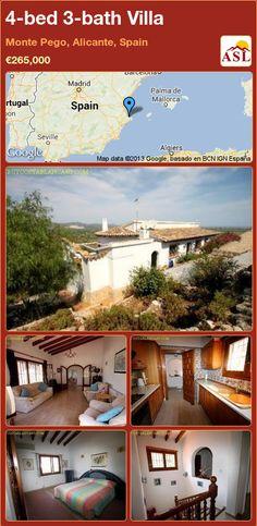4-bed 3-bath Villa in Monte Pego, Alicante, Spain ►€265,000 #PropertyForSaleInSpain