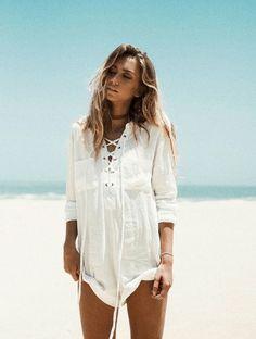 fashion, beach, and girl Bild