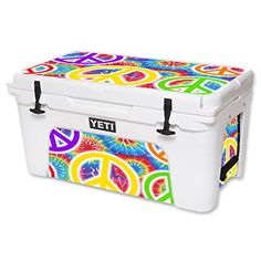 MightySkins Protective Vinyl Skin Decal for YETI Tundra 65 qt Cooler wrap cover sticker skins Peaceful Explosion -- Click image to review more details.(This is an Amazon affiliate link and I receive a commission for the sales) #CoolersandAccessories