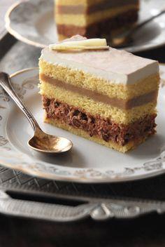 B-Caraibe cake with hazelnut-almond joconde, chocolate-orange chantilly cream…
