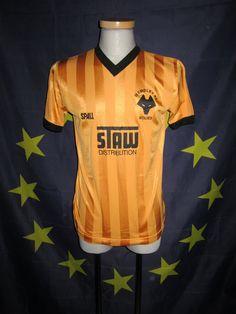 1986-88 home kit Wolverhampton Wanderers Fc, English Football League, Wolves, Darkness, Kit, Mens Tops, Shirts, Shirt, Wolf