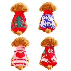 Faithtur Cold Winter Flexible Warm Christmas Dog Knit Sweater Pet Vest for Xmas Festival ** Review more details here : Christmas for Cats