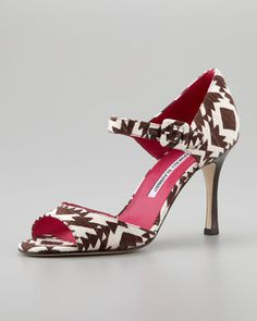 Caldo Printed Mary Jane Pump by Manolo Blahnik at Neiman Marcus.  How awesome are these!!!