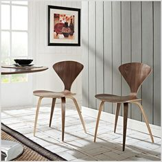 Shop Vortex Stacking Chair - Overstock - 8686256 - Dark Walnut - N/A - Side Chairs Furniture, Bar Furniture, Furniture Deals, Plywood Chair, Dining Room Bar, Side Chairs Dining, Stylish Chairs, Side Chairs, Cool Chairs