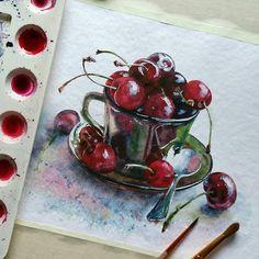 "5,596 Likes, 20 Comments - Watercolor illustrations (@watercolor.illustrations) on Instagram: "" Watercolorist: @luybov_titova #waterblog #акварель #aquarelle #drawing #art #artist #artwork…"""