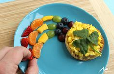 St. Patrick's Day Breakfast: Shamrock Eggs with Rainbow Fruit by Wendy Copley