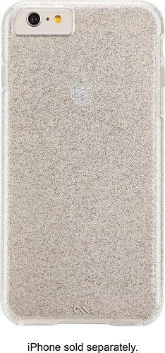 Case-Mate - The Glam Collection Sheer Glam Case for Apple® iPhone® 6 Plus and 6s Plus - Clear/Champagne - Alternate View 1