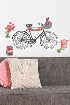 Bike Wall Decal #UrbanOutfitters