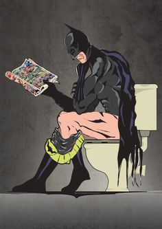 Batman On Toilet by wyatt9 on Etsy