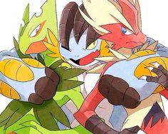 Mega Sceptile, Mega Swampert and Mega Blaziken Pokemon Rosa, Mega Pokemon, Pokemon Funny, Pokemon Fan Art, Pokemon Stuff, Pokemon Images, Pokemon Pictures, Mega Swampert, Nagano