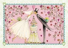 Married couple Artist Illustration by www.MilaMarquis.com and www.Facebook.com/MilaMarquisillustration