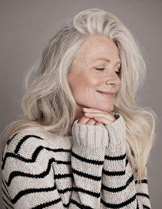 belezas com cabelos grisalhos - Pesquisa Google