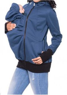 Solid Adjustable Baby Carrier Hoodie