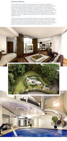 underground+homes | Underground house | Dream Home