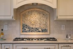 Artched Top Custom Mural with customer supplied glass mosaics