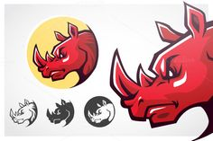 Check out Rhinoceros Head Symbol. by mikailain on Creative Market