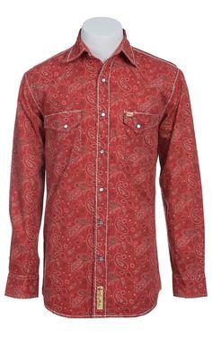 Larry Mahan Mens L/S Western Snap Shirt LM1410718
