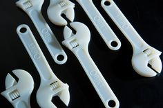 Objet 3D printed wrenches - a useful tool printed as is. Part of the psychology of pricing quality designs post - a few easy rules of thumb for anyone selling products, especially designers.