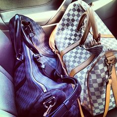 Louis Vuitton keepall (Damier Ebene and Damier Azur)