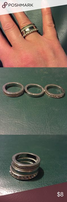 Stack Ring Silver stackable ring size 6 Jewelry Rings