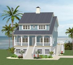 If you ever dreamed of living on the beach, we think this new 3-story beach #houseplan has everything you need to enjoy year-round waterfront living. Tell us if you agree. http://www.thehousedesigners.com/plan/carteret-pointe-5532/