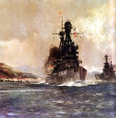 Superb fought at the Battle of Jutland on May 1916 in Vice Admiral Sir Doveton Sturdee's Battle Squadron Naval History, Us History, Military Art, Military History, Capital Ship, Man Of War, Royal Marines, Nautical Art, Navy Ships