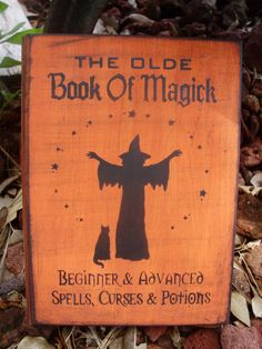 Witches Spells book box Chest Magic Wicca book of by HayridePrims, $27.00