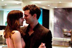 "Jamie Dornan and Dakota Johnson Fifty shades of grey movie ""   … I'm gonna hold you Like I'm saying goodbye """