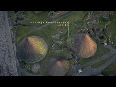 The ancient Scottish Jarlshof recreated from aerial footage for a digital film on HistoricScotlandTV