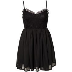 Jeane Blush First Date Dress (5.935 HUF) ❤ liked on Polyvore featuring dresses, vestidos, short dresses, robes, black, party dresses, womens-fashion, strappy dress, flounce dress and frilly dresses