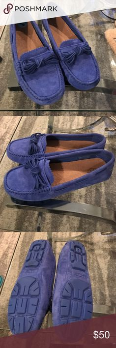 New UGG moccasins/driving shoes These moccasins come with insoles that can be added for extra comfort/ turn them into a slipper. Color blue size 6 UGG Shoes Moccasins